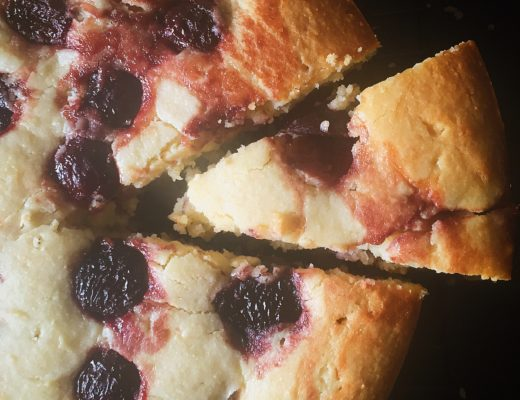 Dark Cherry Ricotta Cake3