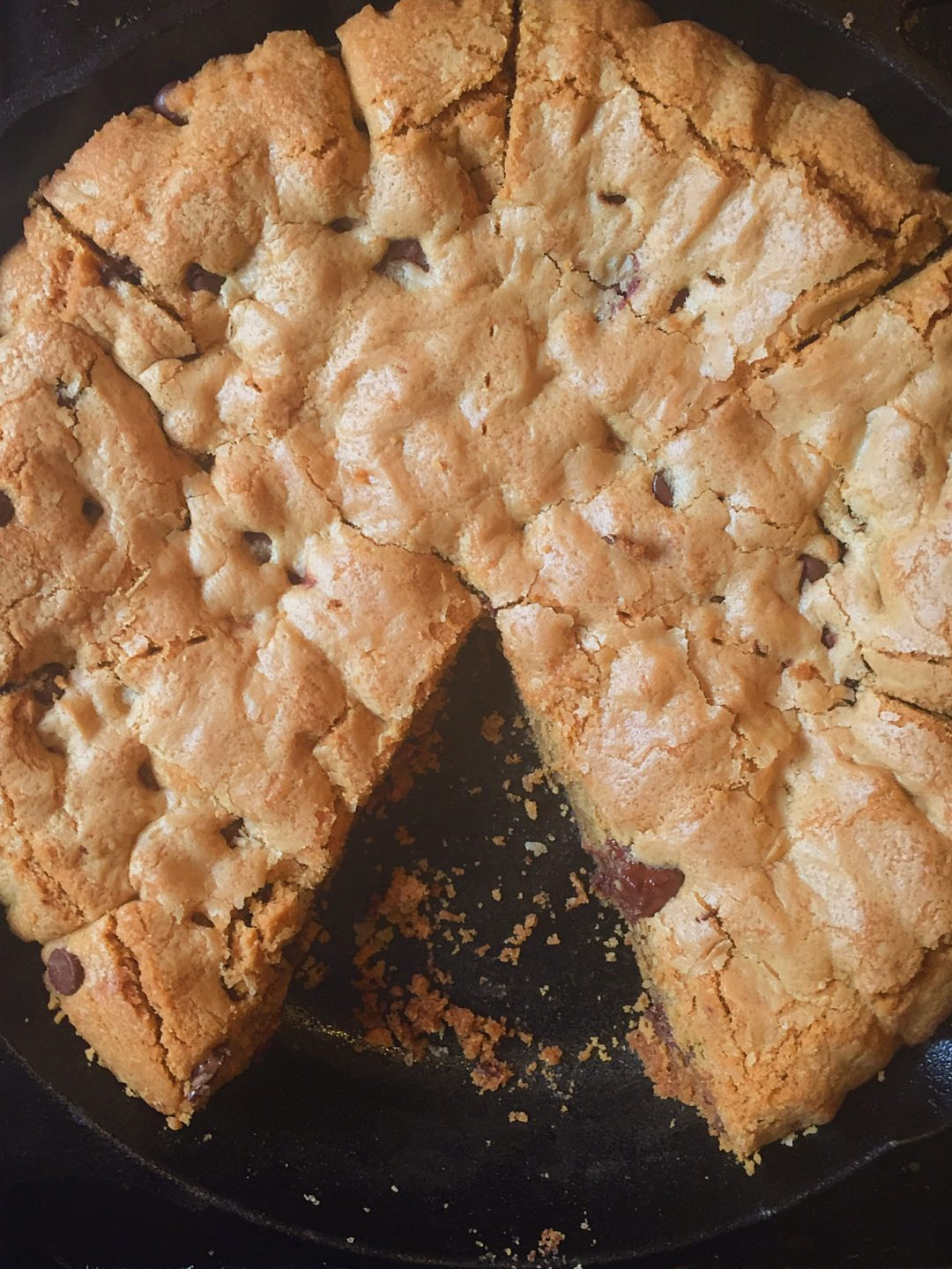Skillet Chocolate Chip Cookie - Jem of the South
