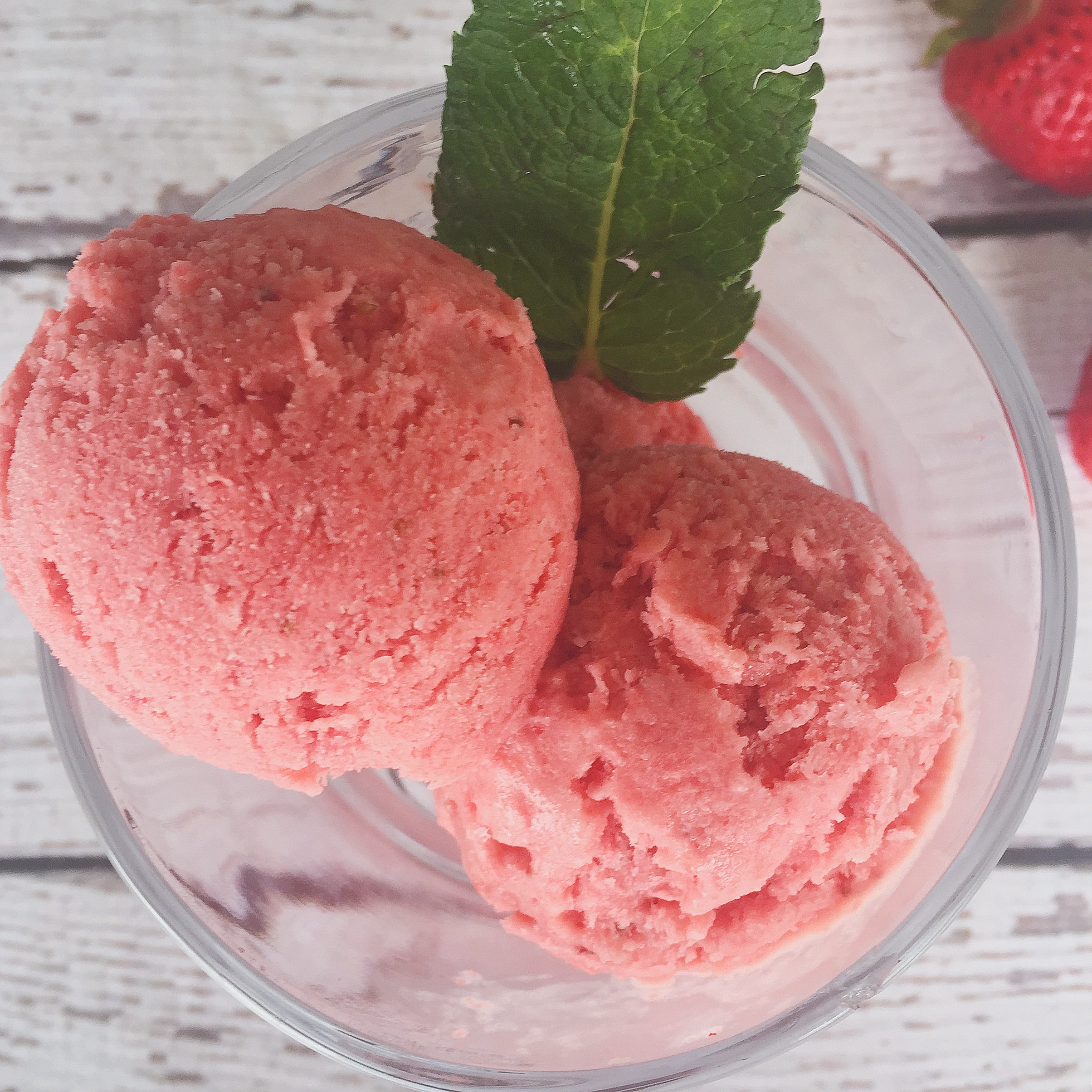Strawberry Granita With Whipped Cream Recipe — Dishmaps